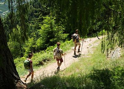 Wanderer im Naturpark Texelgruppe
