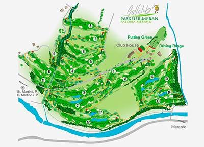 Golfclub Passeier map