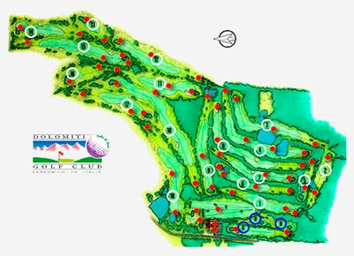 Golfclub Saronico map
